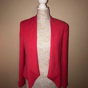Vince Camuto pink salmon front drape blazer size 4